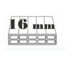 Поликарбонат сотовый 16 мм