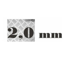 Алюминий рифленый 2,0 мм 1200х3000