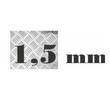 Алюминий рифленый 1,5 мм 1500х3000