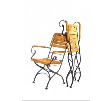 Кресло кованное с подлокотниками (Дуб)