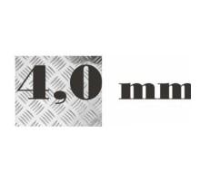 Алюминий рифленый 4,0 мм 1200х3000