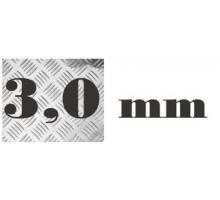 Алюминий рифленый 3,0 мм 1500х3000