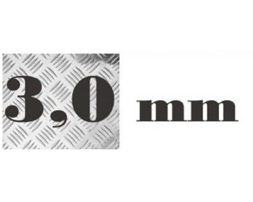 Алюминий рифленый 3,0 мм 1200х3000